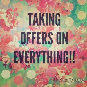 Taking reasonable offers